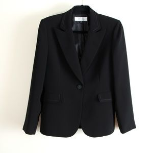 Tahari One Button Black Blazer Business Jacket